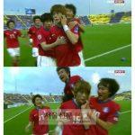 【サッカー】C大阪の韓国代表GKキム・ジンヒョン、釣り目ポーズの被害主張か 柏選手が試合中にサポーターと話し合う珍事